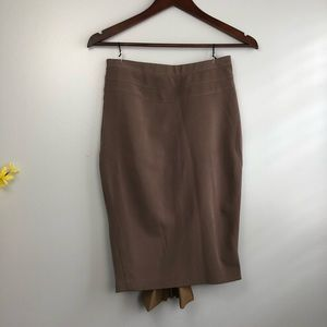 Original stretch canvas pencil skirt, khaki